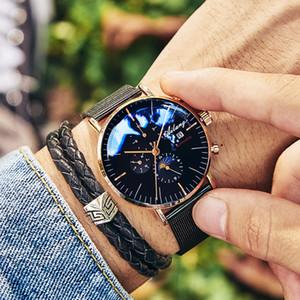 Guarda minimalista meccanico automatico AILANG uomini di modo di marca superiore di sport della vigilanza dell'uomo Reloj Uomini semplici
