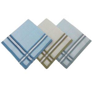 12PCS 40 * 40CM Pure Men de algodão Lenço Luz Handkerchief Scarf Praça