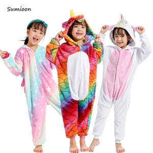 Kigurumi Onesie Bambini Unicorno Pigiama Per Ragazzi Ragazze Tuta Bambini Pigiama Bambino Pigiama Panda Cosplay Sleepwear Tuta Giovanile J190520