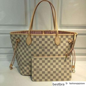Mm Handbag Damier Azur Canvas Shopping N41605 Real Leather Iconic Shoulder Bag Totes Cross Body Business