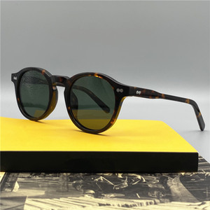 S-Quality Johnny Depp Retro Piccoli occhiali da sole polarizzati militante UV400 46-23-145 Unisex Imported Plank HD-Lensenti HD-set full-set Outlet OEM