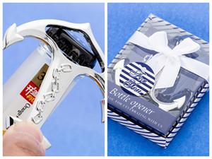 (20 Pieces / lot) Souvenirs de mariage sur le thème de la plage Nautical Ancre Ouvre-bouteille faveurs pour décoration de douche nuptiale Party favors