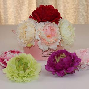 Flores Artificial Silk Peony Flower Heads Wedding Party Supplies Simulação falsificados para casa decorações de Natal flor 15 centímetros XD21711