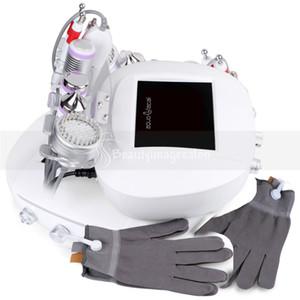 6 في 1 اللوازم الطبية حب الشباب بالموجات فوق الصوتية الباردة المطرقة بيو كهربائي قفاز الوجه التنظيف العميق آلة الجمال