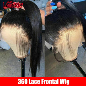 Brazilian 360 Lace Frontal Wig Straight Lace Front Human Hair Wigs Pre Plucked WIth Baby Hair Remy 150% 360 Wig Human