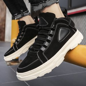 Running Shoes New Leather Men Suede Shoes Men's Winter Warm Casual Footwear Mens Loafers Formal Flat Zapatillas Hombre