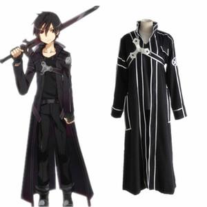 Épée Art Online Kirito Cosplay Costume Manteau En Stock Anime Épée Art Online Kirito Cosplay Vêtements