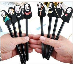 10PCS No Face Man Spirited Away Gel Pen Cartoon Stationery Plastic Material 0.5mm
