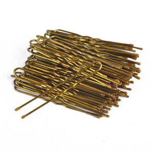 300pcs / lot / caja ondulada en forma de U clip pernos de pelo Clips de Estilismo Herramientas Accesorios Trenzado para las mujeres Oro S M L