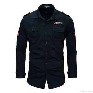 Les nouveaux hommes Pilotez les chemises à manches longues Chemises Baissez MA1 Collier Hauts Mode Shirt Vêtements