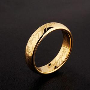 Acero inoxidable Hobbit Un anillo de poder de Oro del Señor de los anillos de joyería de los amantes de las mujeres de los hombres de moda del Señor de los Anéis