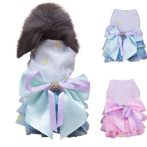 Pet Clothes Cat Dresses Lady Style Summer Pet Rabbit Cat Flower Print Skirt S m Size Cat Performance Clothes Dog Jacket P3