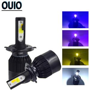 2PCS 6000K Strobe Flash Light Black C6 H4 Светодиодные лампы фар автомобиля H1 H3 H7 H8 H11 Противотуманные фары 800 881 9012 9005 9006 12 Глава лампы