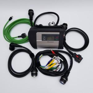 최고의 품질 MB STAR C4 SD 연결 진단 도구 WIFI 및 21 개 언어 C4 Xentry 진단 도구 DHL 무료