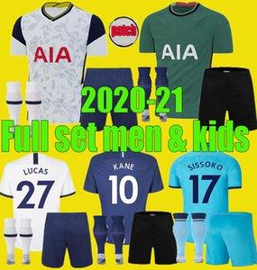 الرجال الاطفال 2020 2021 TOTTENHAM KANE SON BERGWIJN NDOMBELE لكرة القدم الفانيلة عدة 19 20 21 LUCAS SPURS DELE كرة القدم قميص مجموعة كاملة موحدة