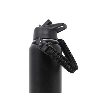 7 중핵 하이킹 손잡이 결박 옥외 부속품 땋는 물병 컵 홀더 Paracord는를 위해 넓은 입에 간단하게한다