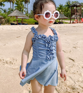 12M-5Y bébé enfants Maillots de bain Filles Robe monoblocs Swimmsuit pour la plage Vêtements Natation Enfants d'été