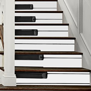 Piano Key Stair Stickers Waterproof Wallpaper Home Decorations 7.1 x 39.4 inch 6pcs