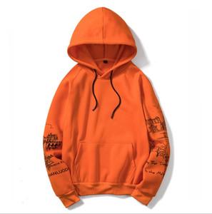 Mens Hoodies Camisola encapuçado outono e New Style Inverno Quente venda mais Velvet pintura, Esboço masculino Sweater EUR Tamanho