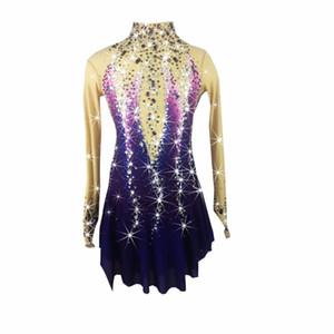 BHZW Patinage artistique Robe de patinage femmes Girl Ice Dress Spandex