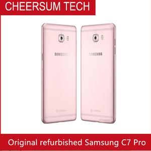 Recuperado Original Samsung Galaxy C7 Pro C7010 5,7 polegadas Octa Núcleo 4GB RAM 64GB ROM Dual SIM 16MP 3300mAh 4G LTE SmartPhone