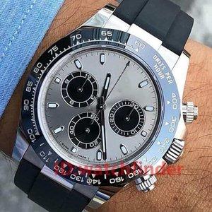 Gummi-Riemen Asien 2813 Roségold Grau 116519 Ln Luxury Herren Automatische Bewegung Designeruhr Mode Casual Reloj Uhren Armbanduhren