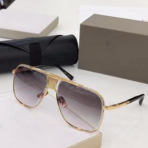 vaka üst kalite ile Yeni MACH klasik beş güneş gözlüğü erkek güneş gözlüğü, metal bağbozumu moda tarzı açık gözlük kare kare UV 400 lens