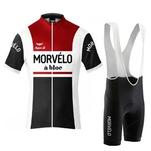 Best Men Morvelo Team Cycling Jersey Sets Sports Uniform Mtb Bike Wear Summer Breathable Racing Bicycle Clothing Suit Y032505
