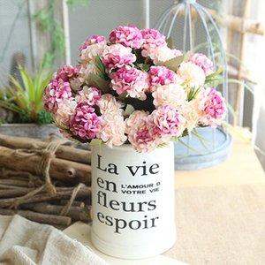 10 Capo Seta crisantemo artificiali fiori di ortensia Bouquet fai da te falso fiore della decorazione del vaso parete casa della festa nuziale decorazione