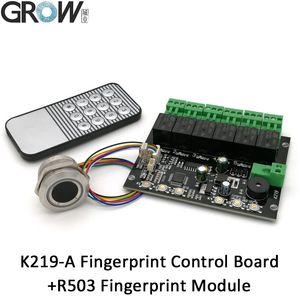 K219-A + R503 Programlanabilir Parmak İzi Kızılötesi Kontrol Kurulu Denetim Röle Zaman Kontrol Anahtarı GROW