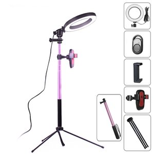 16&20cm Ring Light 5500K Photo Studio Light Photography Dimmable Video For Smartphone With Tripod Selfie Stick Phone Holder
