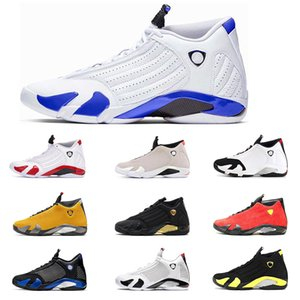 Air jordan 14 ВоздухРетроИордана 14s 14 мужчин Баскетбол обувь Hyper Royal Varsity Royal University Gold Thunder Mens тренер Спорт Sneaker 7-13