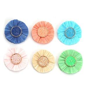 DoreenBeads Mode Tassel Pendentif Perles De Semence En Papier Pour Le Bricolage Artisanat Coloré Gland Fleur Charmes 3.6cm Dia.