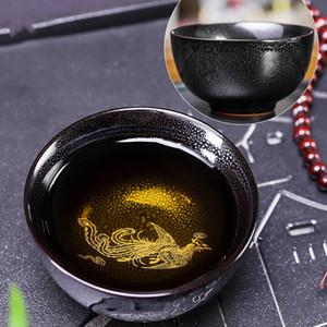 Handmade Phoenix Tea Cup Master Small Bowls Drinkware Kiln Change TeaCups Jianzhan Puer Tea Bowl