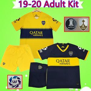 Adulto Mens Kit 2019 2020 Camisolas de futebol de Boca Juniors 19 20 ZARATE # 17 ABILA camisa de futebol CARDONA set camiseta PAVON VILLA suit Maillot