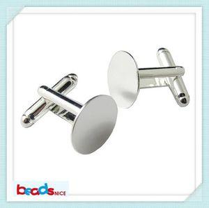 Wholesale-BeadsnID3424 fashion design cufflinks for mens rench cuFfflink backs free shipping 16mm blank cuff links high quality