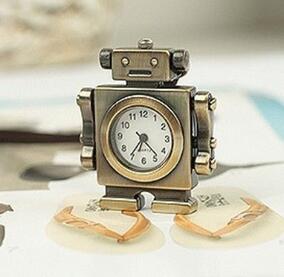 Brand new [modelos de explosão] relógio criativo colar crianças gráficos de parede direto da fábrica relógio de bolso mãos motionless robô presente