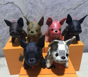 Brand new handbag accessories bulldog pendant  design fashion leather bag key chain top quality DHL