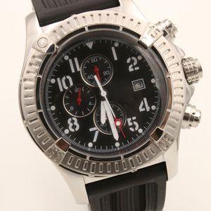 Herren-Uhr Super Avenger II 1884 Quarzwerk Chronograph Male Gummibügel Männer Uhren A133711 Armbanduhr Relogio Masculino