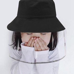 Bambini Shield Cappelli Baby Face Visiera bambini Cappuccio di protezione del pescatore del cappello anti-spruzzo removibile Baseball Caps ZZA2225 60Pcs