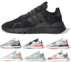 2020 Avec potimarron Nite jogger chaussures de course réfléchissant 3M pour les hommes des femmes triple baskets de sport formateur respirant noir blanc