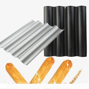 Non-Stick Bread Pan Mold Wave Loaf Baking Mould DIY Wave Baker Tray Wave Baguette Stick Cooking tool KKA7913
