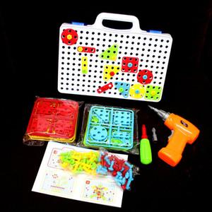 Venta al por mayor Taladro eléctrico Tuerca Desmontaje Match Puzzle Tool Taladro Montado Puzzle set Jigsaw Inteligente Juguete Educativo Para Niños