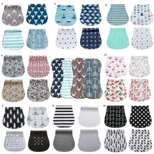 17 Styles Baby-Spucktücher Babylätzchen Feeding Pflegetuch Zubehör Aufstoßen Rags für Neugeborenen Organic Cotton saugfähig und weich NR8003