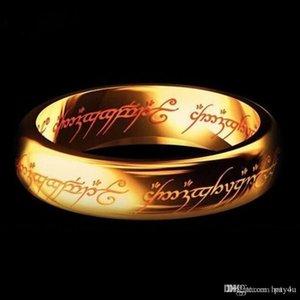 Hotyou 2017 Pay4U 2018 New aço inoxidável Um Anel do Poder do Senhor de um anel amantes de anel Mulheres Homens Moda Jóias Atacado frete grátis