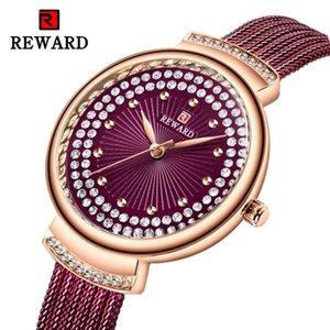 RÉCOMPENSE haut de gamme Diamant Femme Montre Luxe Milan Mesh Femmes Montres Casual Women Watch