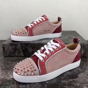 New free delivery hococal Men and Women Unisex Shoes Best Red Bottom Sneaker Party Personality High sole Leather High Top Studded no box 2o
