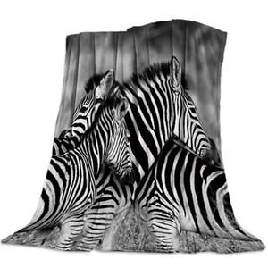 Animali Zebra Bianco e White Stripes panno morbido della flanella letto manto Copriletto Coverlet copriletto molle leggero coperte calde