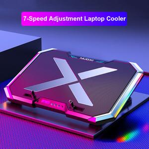 Laptop Cooler Laptop Cooling Pad Notebook Cooler Gaming Support Avec Six ventilateur et 2 ports USB pour ordinateur portable Stand 11-17inch