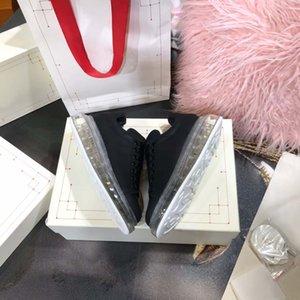 Sıcak Satış-xury Casual Ayakkabı Temizle Sole Eğitmenler Kırmızı Sarı Pembe Şeffaf Kristal Alt Flats Erkekler Kadınlar Sneakers Mens